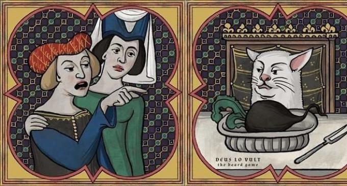 Współczesne memy w średniowiecznym stylu