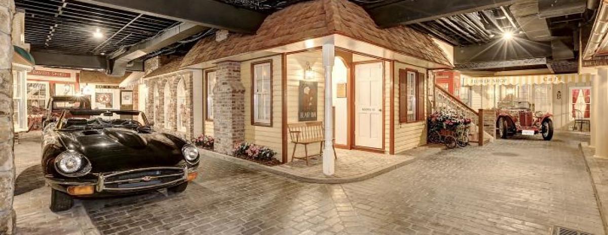 Mała wioska wybudowana pod powierzchnią luksusowej posiadłości