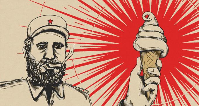 Skubany Fidel Castro stworzył największą lodziarnię na świecie, ale i tak pamiętamy go z cygar, no i rewolucji