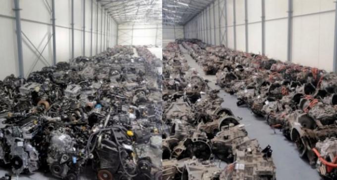 Wołomin: Policja odnalazła halę pełną kradzionych silników z Niemiec i Austrii