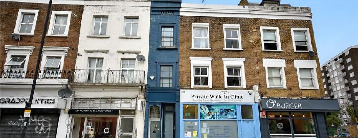 Jeden z najwęższych domów w Londynie wystawiony na sprzedaż
