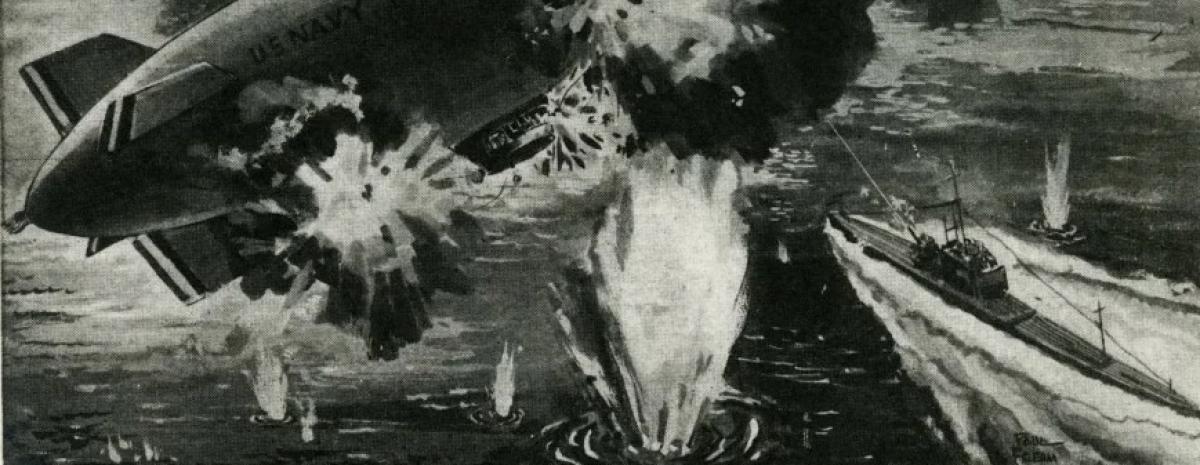 Jedyna bitwa między sterowcem a okrętem podwodnym (obserwowana przez rekiny)
