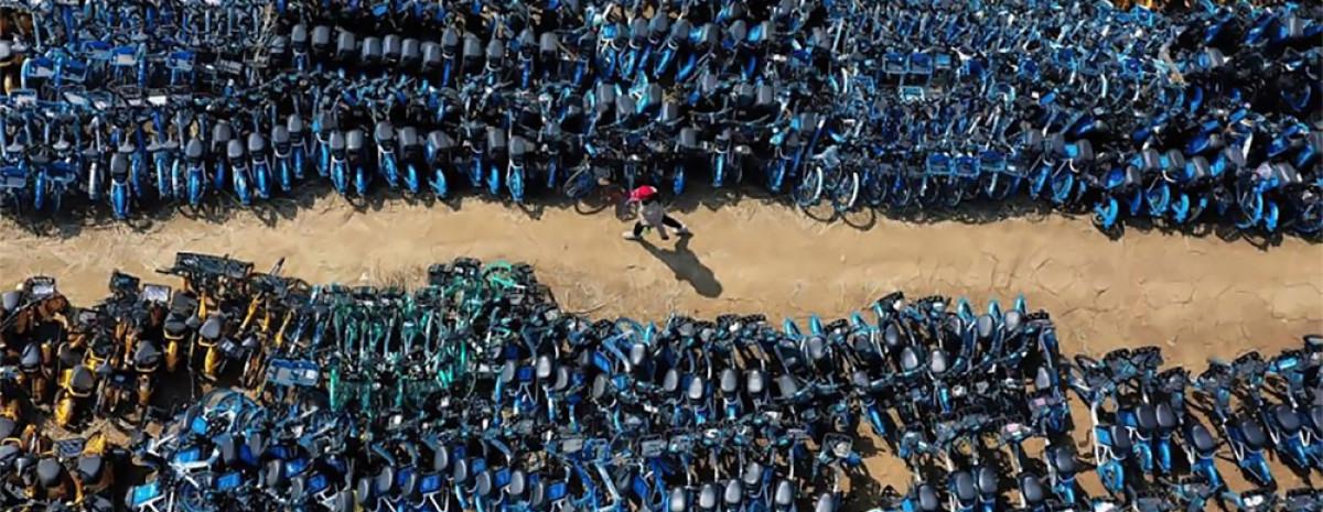 Chińskie cmentarzysko rowerów